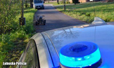 Wypadek quadem w gminie Nowe Miasteczko. Fot. Policja