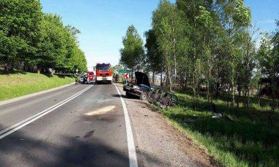 Wypadek w Woli Filipowskiej. Fot. OSP Tenczynek