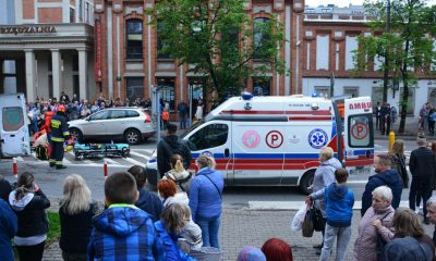 Potrącenie pieszych na przejściu w Żyrardowie. Fot. Policja