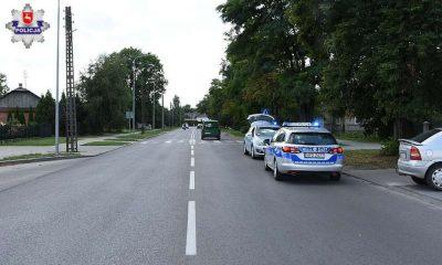 Przejście dla pieszych w Zamościu, na którym doszło do potrącenia 77-latki. Fot. Policja