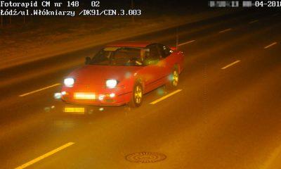 Kierowca nissana jechał 171 km/h przez Łódź. Sąd nakazał mu zapłatę 1200 zł grzywny i na 3 miesiące odebrał prawo jazdy. Fot. CANARD