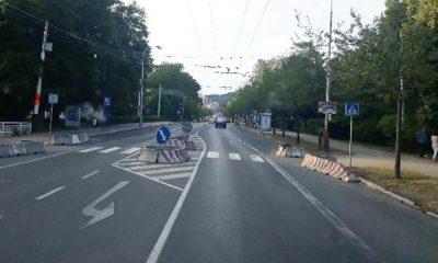 Mariańskie Łaźnie w Czechach - redukcja jezdni z 2x2 na 1x2 w obszarze zabudowanym z uwagi na przejście dla pieszych, które dodatkowo zostało wyposażone w azyl. Fot. Wiesław Migdałek