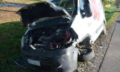 Kierowca dostawczego busa, który zabił 71-latkę, był pod wpływem amfetaminy. Fot. Policja