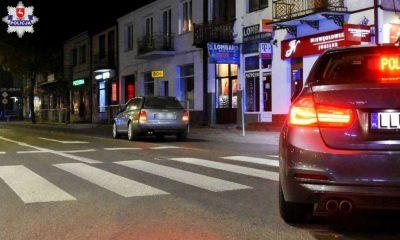 19-latek potrącił pieszą przechodzącą na zielonym świetle w Łukowie Fot. KPP Łuków