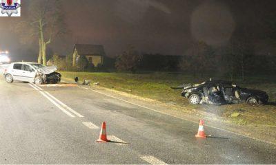Kierowca zatrzymany po wypadku w Łukowie twierdził, że nie kierował żadnym samochodem Fot. Policja