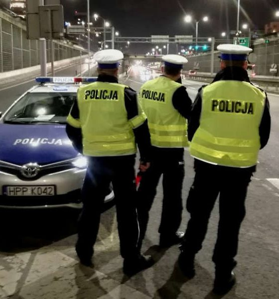 Pomiar prędkości kierowców w Katowicach Fot. Policja