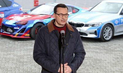 Premier Mateusz Morawiecki zapowiedział więcej zmian prawa, które mają poprawić bezpieczeństwo na drogach Fot. Twitter/KPRM