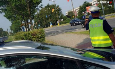 """Akcja """"Prędkość"""" prowadzona przez policję w Żorach w 2017 r. Fot. policja"""