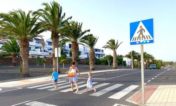 Przejście dla pieszych w Hiszpanii. Fot. Adam Sobieraj