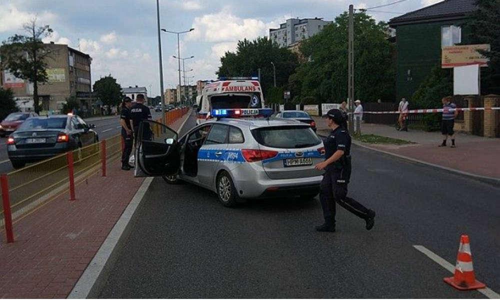 Do śmiertelnego potrącenia pieszej doszło na ul. Hetmańskiej w Białymstoku w 2018 r. Fot. Policja