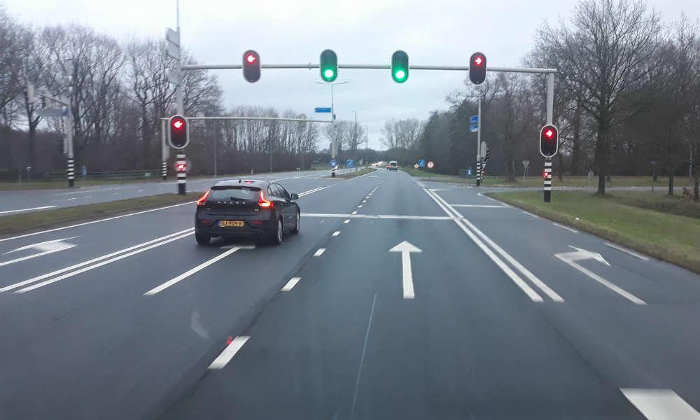 Skrzyżowanie drogowe w Holandii Fot. Wiesław Migdałek