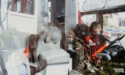 Żołnierze WOT podczas epidemii pomagają m.in. oddając krew. Na zdjęciu zbiórek odbyła się w 13 Śląskiej Brygadzie OT Fot. WOT