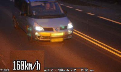 Kierowca w miejscowości Stołpie jechał 160 km/h i przekroczył dozwoloną prędkość aż o 110 km/h Fot. CANARD