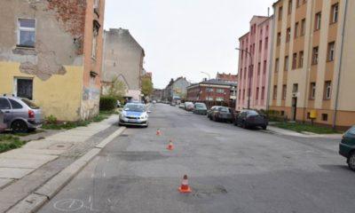 Miejsce potrącenia pieszego w Legnicy Fot. Policja