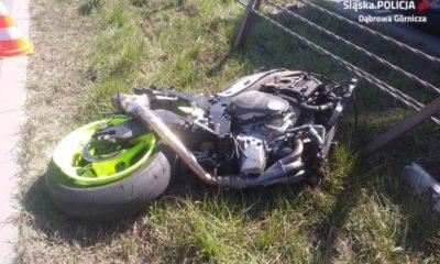 Wypadek motocyklisty na drodze krakowej nr 94 Fot. Policja