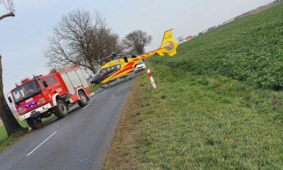 Wypadek na drodze w okolicach Niechanowa Fot. Policja