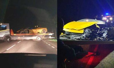 Lamborghini, którym miał rozbić się Marcin Bułka Źródło: Facebook/Kanał Sportowy