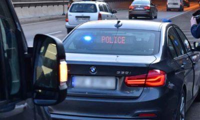 Kontrola prowadzona przez funkcjonariuszy w nieoznakowanym radiowozie na Śląsku. Fot. Policja