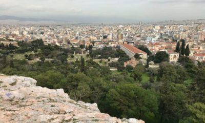 Widok na centrum Aten z Areopagu Fot. Łukasz Zboralski/brd24.pl