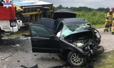 Wypadek maturzystów w miejscowości Siedliszcze Fot. Policja