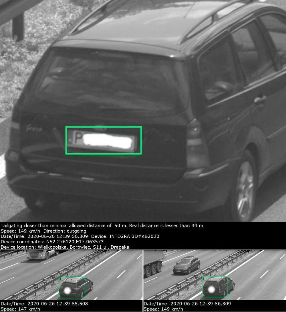 Jeden z kierowców przy prędkości 139 km/h jechał mniej niż 34 m za poprzedzającym go pojazdem Fot. Archiwum