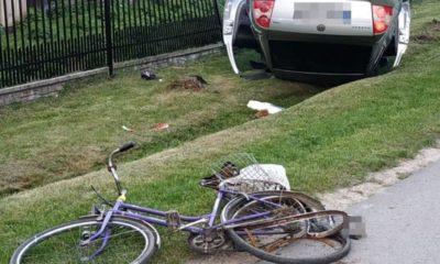 18-letni kierowca zabił 60-latka na rowerze Fot. Policja
