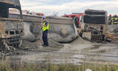 Wypadek na drodze DK1 w miejscowości Bogusławice Źródło: Facebook/OSP Mykanów