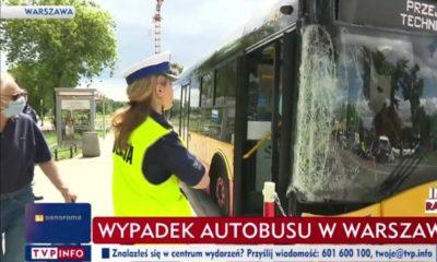 Wypadek autobusu w stolicy. Źródło: TVP Info