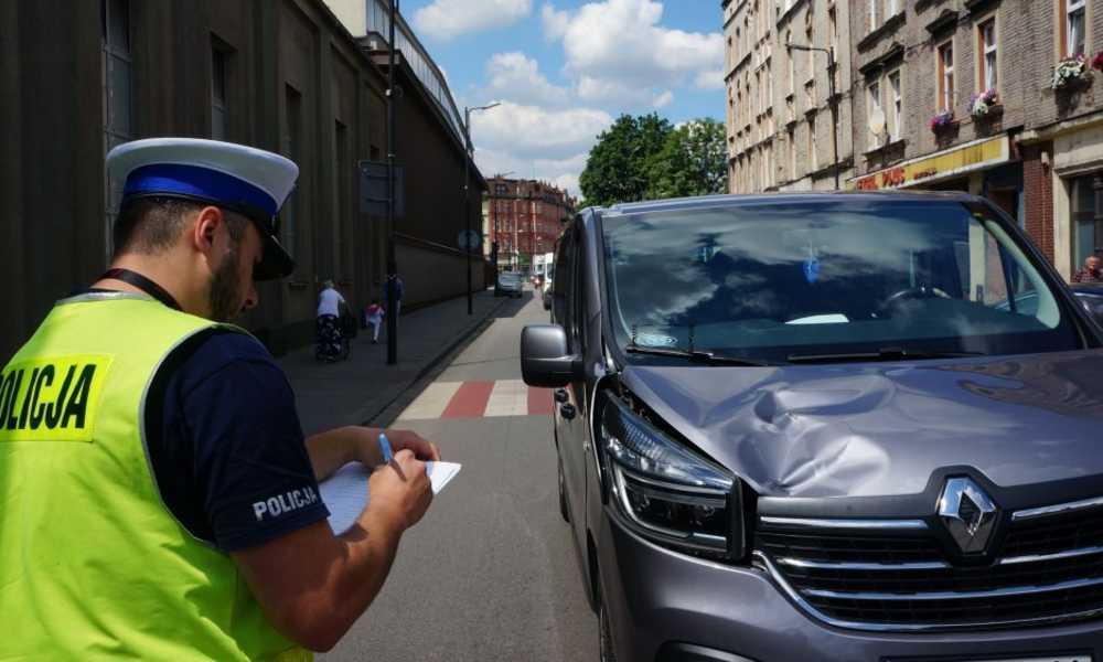 Śmiertelne potrącenie pieszej w Siemianowicach Śląskich Fot. Policja
