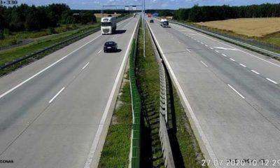 Pijany Ukrainiec po kolizji zdecydował się na ucieczkę autostradą A4 pod prąd Fot. policja