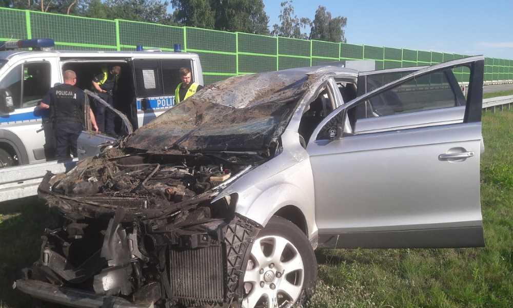 W śmiertelnym wypadku na autostradzie A1 zginął 50-letni kierowca hondy civic. Fot. Policja