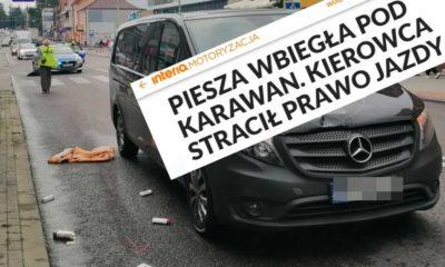 Potrącenie pieszej na przejściu w Tomaszowie Lubelskim i nagłówek portalu Interia Źródło: Policja/Interia