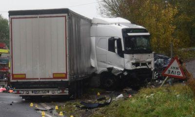 Polak jechał ciężarówką pod prąd w Anglii i spowodował w listopadzie śmiertelny wypadek Fot. Northampshire Police