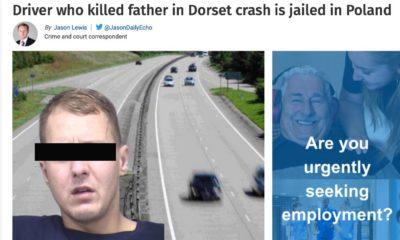 Informacja o wyroku dla polskiego kierowcy w brytyjskiej prasie. Źródło: bournemouthecho.co.uk