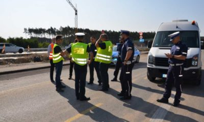 Drogowcy ustalali ze służbami, gdzie na budowanej A1 wyznaczyć miejsca kontroli, by okiełznać bandyckie zapędy kierowców Fot. GDDKiA