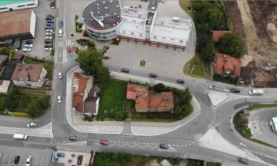 Przebudowane rondo w Bochni Źródło: Powiat Bocheński/Facebook