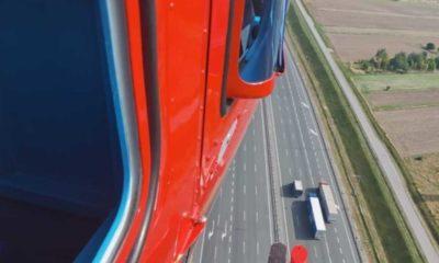 Policyjny helikopter podczas akcji drogówki nad autostradą A2 Fot. Policja