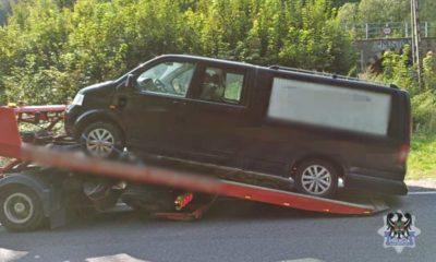 Kierowca karawanu był pijany i pod wpływem narkotyków Fot. Policja