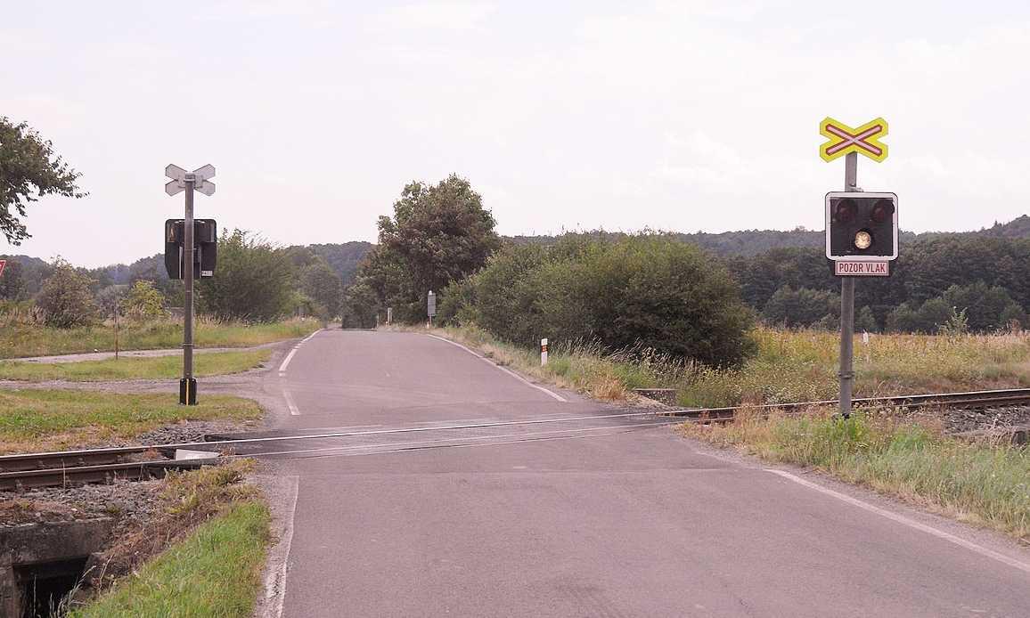Przejazd kolejowy w miejscowości Horní Heřmanice Fot. Stribrohorak/CC ASA 3.0