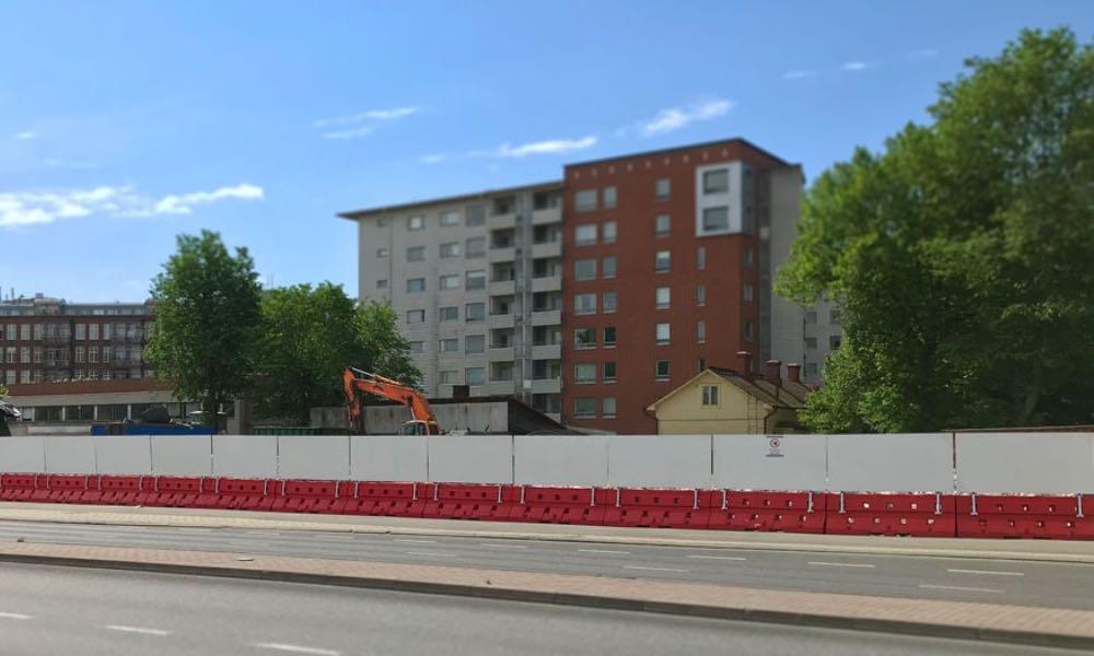 Polskie bariery betonowe Sofibox firmy Fiedor-Bis w mieście Oulu w zachodniej Finlandii Fot. mat prasowe