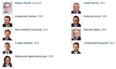 Członkowie podkomisji specjalnej ds. rozpatrzenia nowelizacji Prawa o ruchu drogowym Fot. Sejm