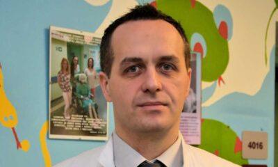 Dr Przemysław Gałązka chirurg dziecięcy z Katedry Pediatrii, Hematologii i Onkologii Collegium Medicum w Bydgoszczy