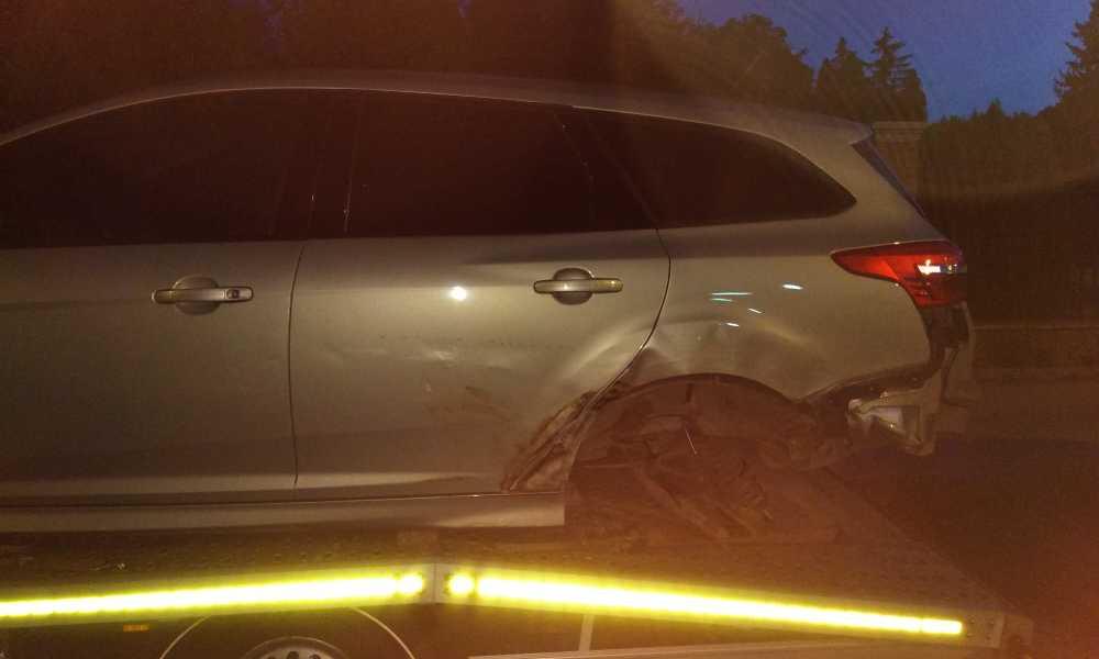Samochód Wojciecha Complaka po wypadku Fot. Wojciech Complak