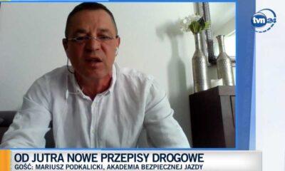 Mariusz Podkalicki, kierowca wyścigowy, właściciel Pro Driving TEAM Akademia Bezpiecznej Jazdy Źródło: TVN24