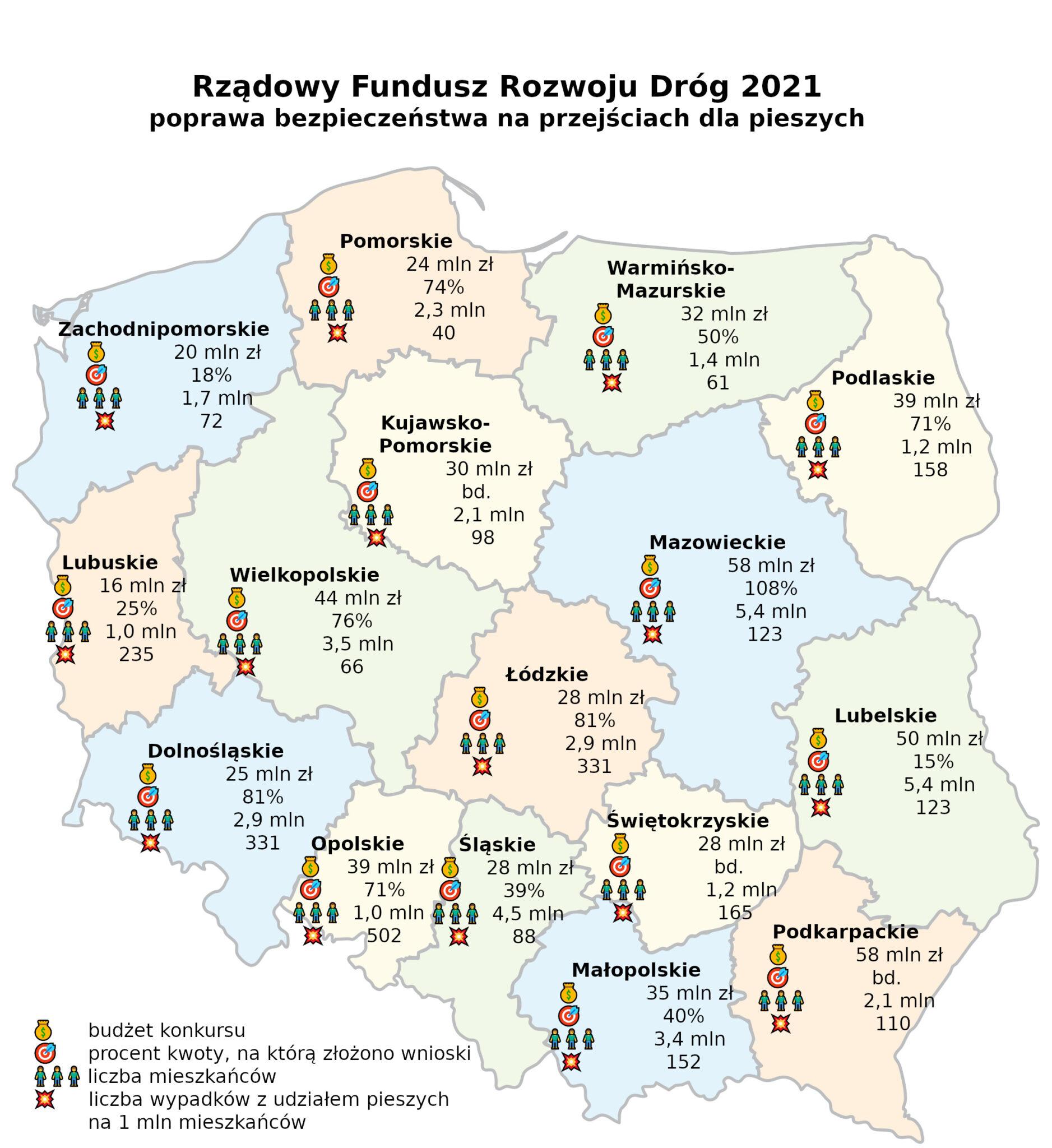 Jak samorządowcy zgłaszali się po pieniądze na poprawę BRD. Źródło: Gazeta.jawnylublin.pl
