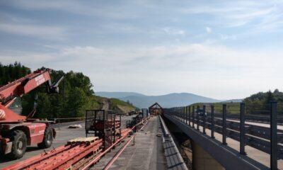 Budowa drogi ekspresowej S7 na odcinku Lubień - Naprawa. Czerwiec 2021 r. Źródło: GDDKiA