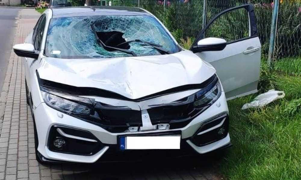 Pijany kierowca, któremu sąd wcześniej zakazał prowadzenia pojazdów, zabił pieszego na przejściu w Olkuszu Fot. Policja