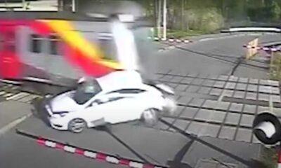 Wypadek na przejeździe kolejowo-drogowym w Radziwiłłowie w maju 2021 r. Źródło: PKP PLK
