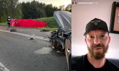 Po lewej - miejsce śmiertelnego wypadku. Po prawej - adwokat, który nagrał film w tej sprawie Źródła:Facebook/OSP w Barczewie/Instagram/@adwokatnowejery/Twitter/Jan Śpiewak
