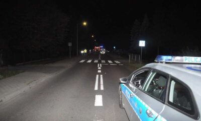 Kierowca zabił 9-lata na przejściu dla pieszych w Krężnicy Jarej (Lubelskie) Fot. Policja